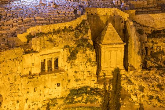 Israel, Jerusalem. Tomb of Zechariah and Benei Hezir.