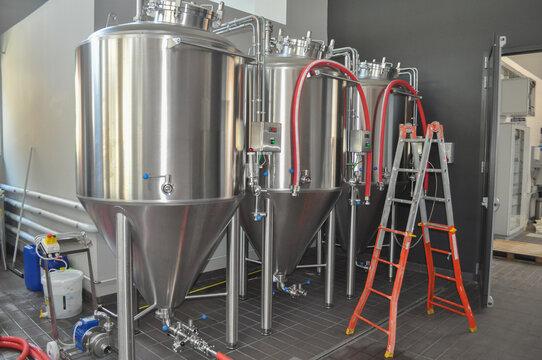 beer fermenter in brewery
