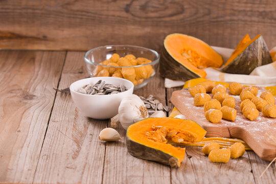 Raw pumpkin gnocchi.