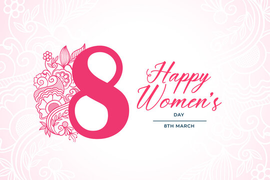 decorative happy womens day 8th march background