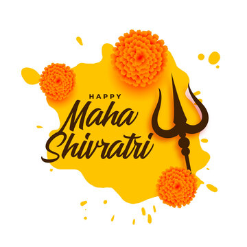 nice maha shivratri wishes card design