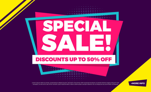 Special Sale Discounts Up To 50% Off Shopping Background Label