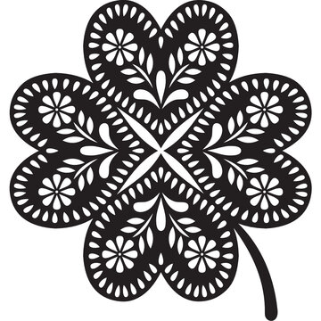 Lucky  Clover cut file, St Patrick's Day design