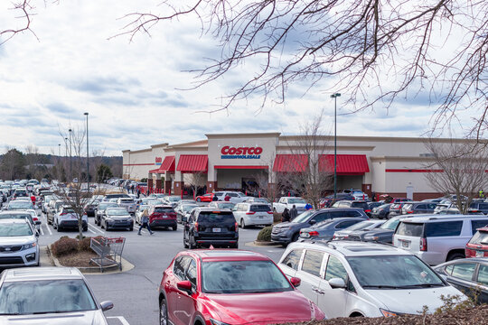 Buford, USA - Jan 17th 2021: Front view of the Costco store located in Buford, GA.