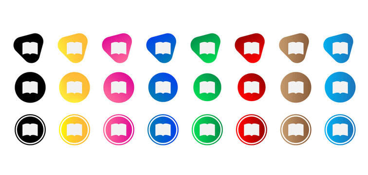 book fill icon set. Website set icon vector. for computer and mobile