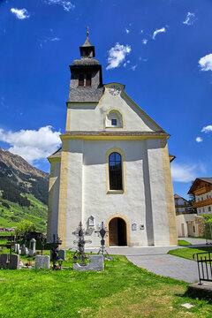 South Tyrol impressions, church in Ridnaun, (Italy).