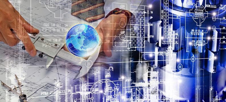 Engineering industrial technologies concept