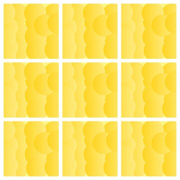 collage of yellow pattern flowers