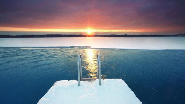 Sonne im Winter