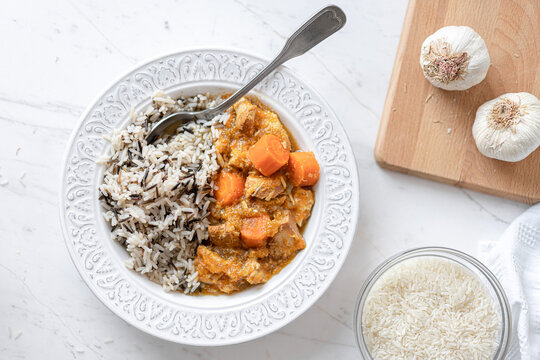 Sweet Apricot Chicken, Carrots, Basmati and Wild Rice