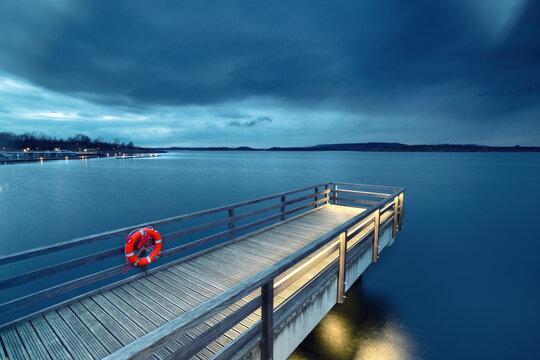 Abend an der Seebrücke