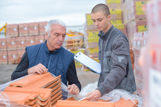 concept of roofing material warehouse