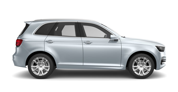 Silver SUV - Side view
