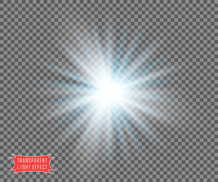 The color is white with light blue transparent rays. Vector illustration overlay template.