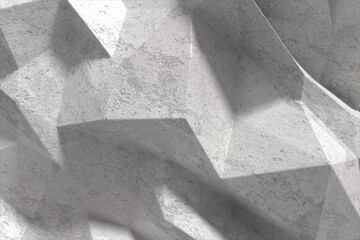 Abstract illustration of geometrical shape texture on grey background