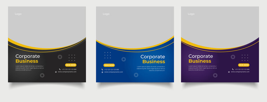Instagram posts collection for corporate business