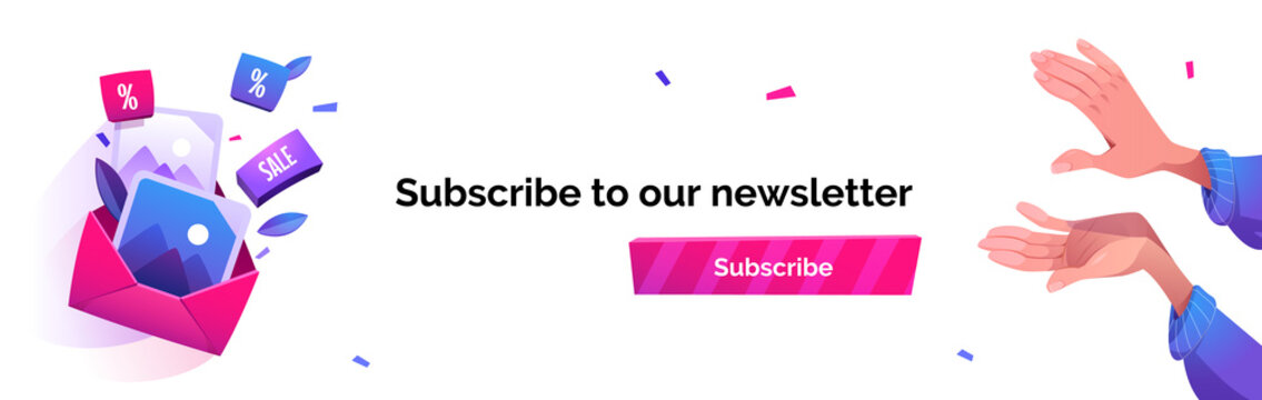 Subscribe to our newsletter cartoon banner, news