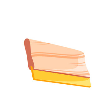 vector squeegee design with yellow wooden and rubber handles. for screen printing. white background