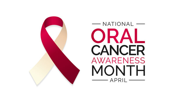 Vector illustration on the theme of Oral cancer awareness month observed each year in April. These cancers are diagnosed more often among people over age 50 than among younger people.