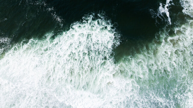 Patterns from above the Pacific Ocean create ominous shapes