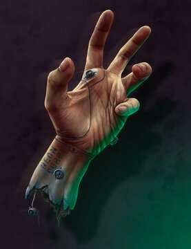 The cyber-hand, technology of the future.