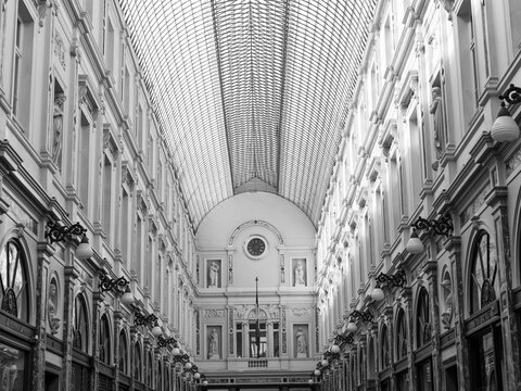 Galeries Royales Saint-Hubert in Brussels, Belgium