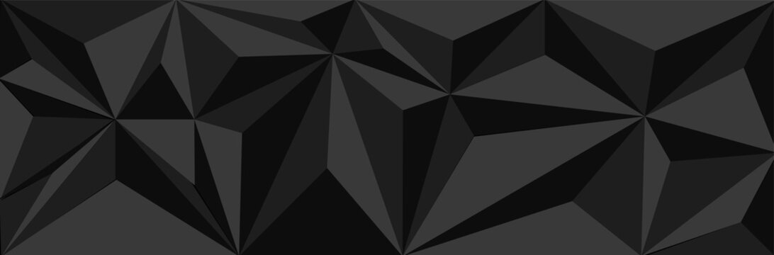 Abstract black triangle background vector