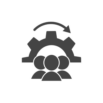 Workflow vector icon on white isolated background.