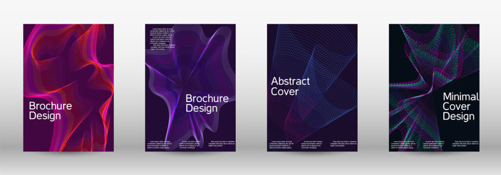 Artistic covers design. A set of modern abstract covers.