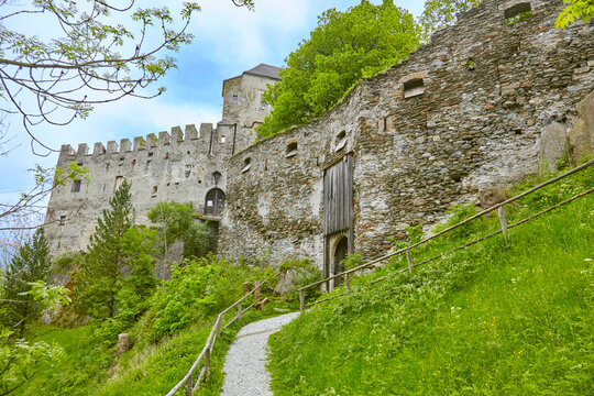 South Tyrol impressions with the old castle, near Ratschings, Italy.