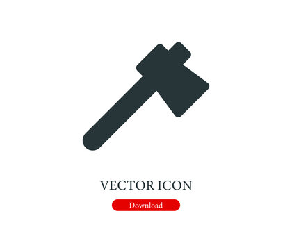 axe vector icon.  Editable stroke. Linear symbol for use on web design and mobile apps, logo. Symbol illustration. Pixel vector graphics - Vector
