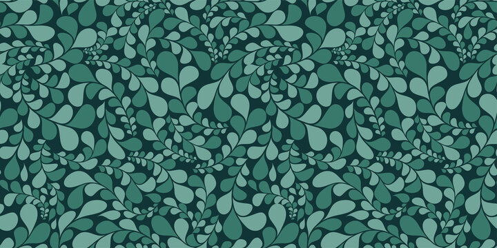Organic motif, botanical motif background. Seamless pattern.Vector.スタイリッシュな有機的パターン