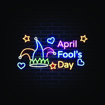 April fool's day neon sign