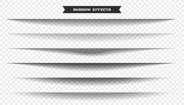 wide paper sheet shadow effect set of six