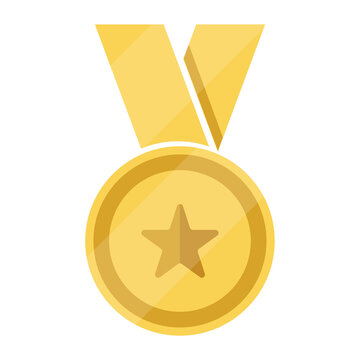 Gold medal with star