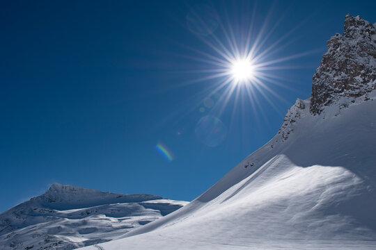 ski resort in winter