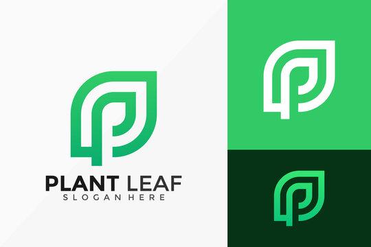 Plant Leaf Logo Design. Creative Idea logos designs Vector illustration template