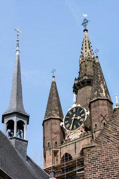 Kirchtrurm in Delft.