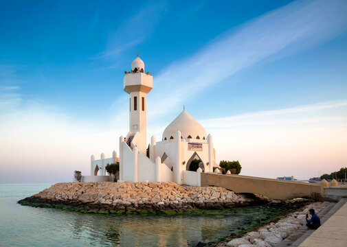 Sheikh Salem bin Laden Mosque at golden hour