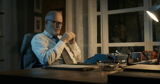 Professor struggling with writer's block