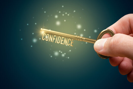 Confidence and personal development self-confidence concept