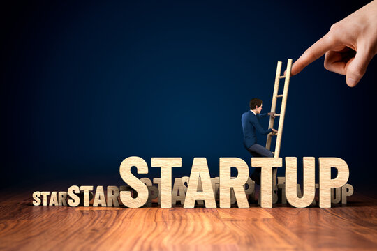 Startup business concept with growth