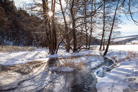 Winterlandschaft am Bächlein