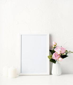 mock up frame photo decoration for spring