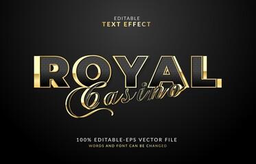 Fototapeta Royal casino Editable text effect vector
