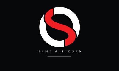 Fototapeta OS, SO, O, S abstract letters logo monogram obraz