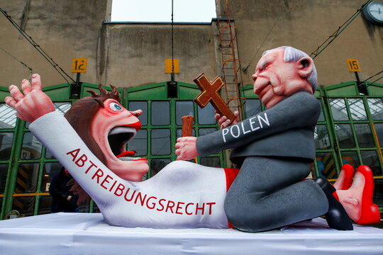 Cancelled ''Rosenmontag'' (Rose Monday) parade due to the COVID-19 pandemic, in Duesseldorf