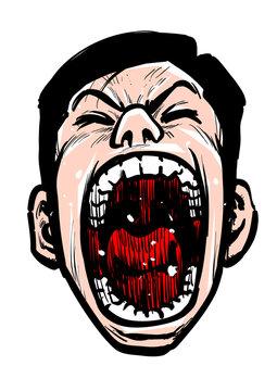 口開け,叫ぶ,笑う,嘲ける,男,上向き,見下す,劇画,マンガ,漫画,青年,中年,サラリーマン,ビジネスマン,痛み,苦痛,歪む,苦味,苦しみ,サムライ,侍,ハゲ,薄毛,男性ホルモン,AGA 白バック,下品,バカ,アホ,汚い,キモい,臭い,おっさん,武士,脱毛,髪,ハゲ頭,おじさん,ストレス,日本,コミック,育毛,抜け毛,病気,イラスト,汚れ,アップ,脱毛症,年齢,不安,AGA
