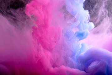 Abstract pink and blue background from fluid.