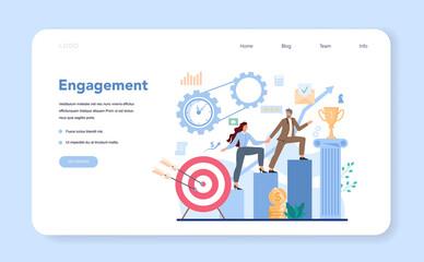 Fototapeta Business top management web banner or landing page